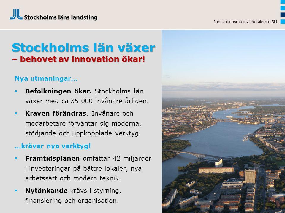 Stockholms län växer – behovet av innovation ökar.