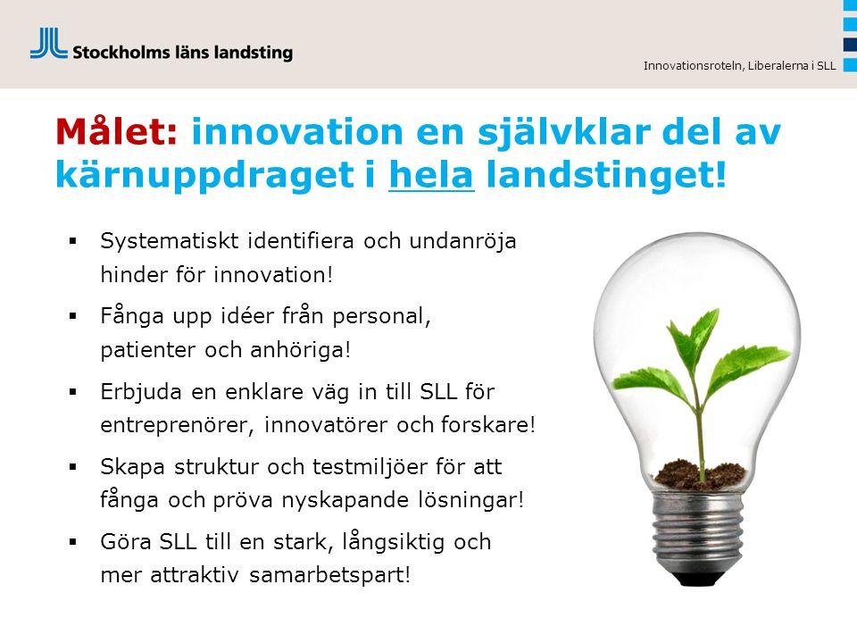 Identifierade hinder för att snabbare sprida och använda innovationer: Ersättningssystem Ersättningssystem som cementerar rådande arbetssätt och gammal teknik.