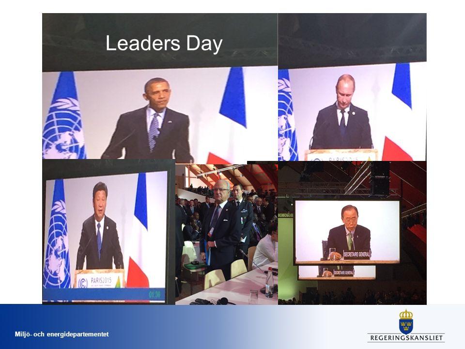 Miljö- och energidepartementet Leaders Day