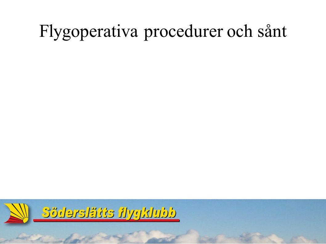 Flygoperativa procedurer och sånt