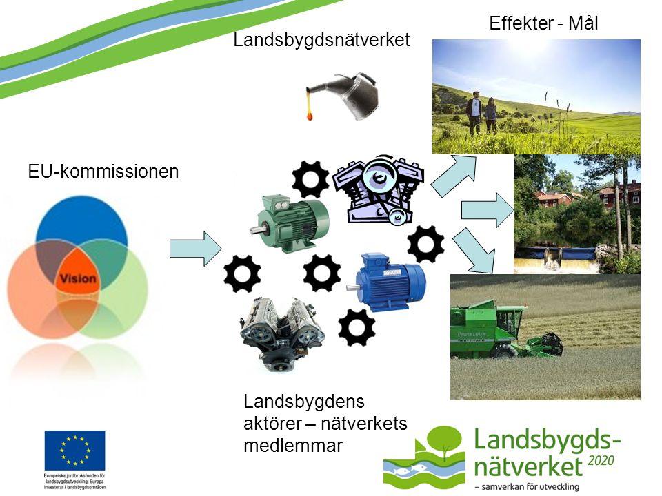 Landsbygdsprogram EU-kommissionen Landsbygdens aktörer – nätverkets medlemmar Effekter - Mål Landsbygdsnätverket