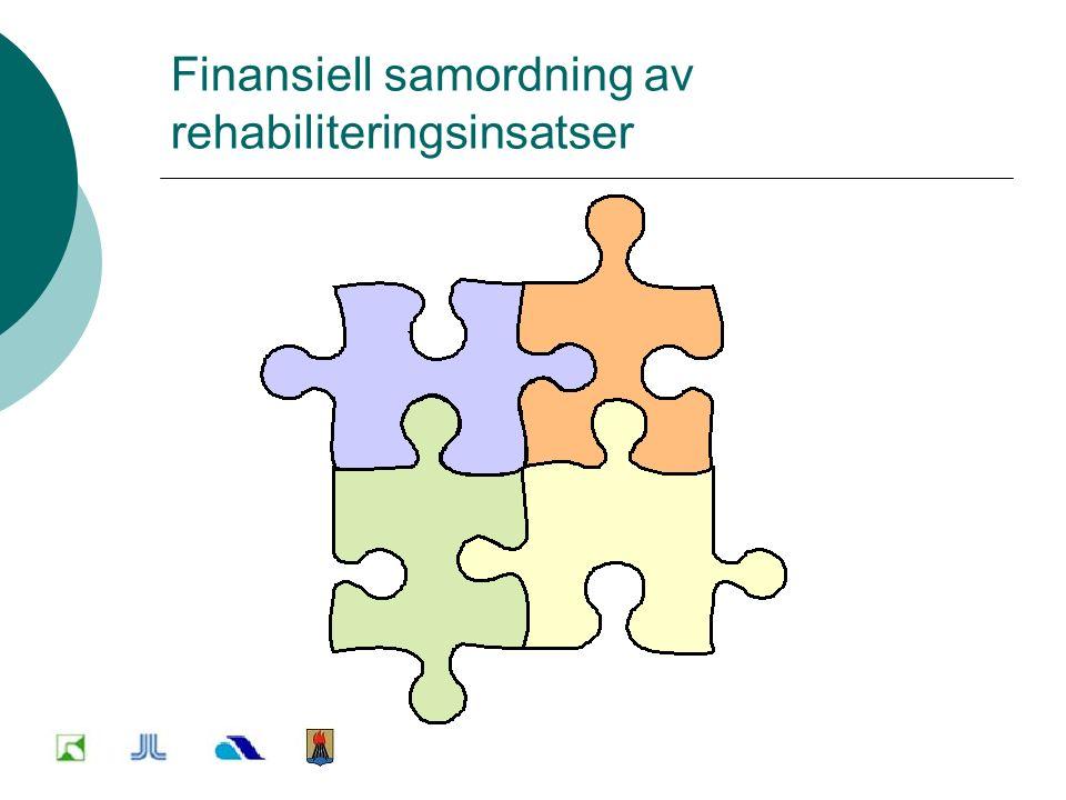 Finansiell samordning av rehabiliteringsinsatser