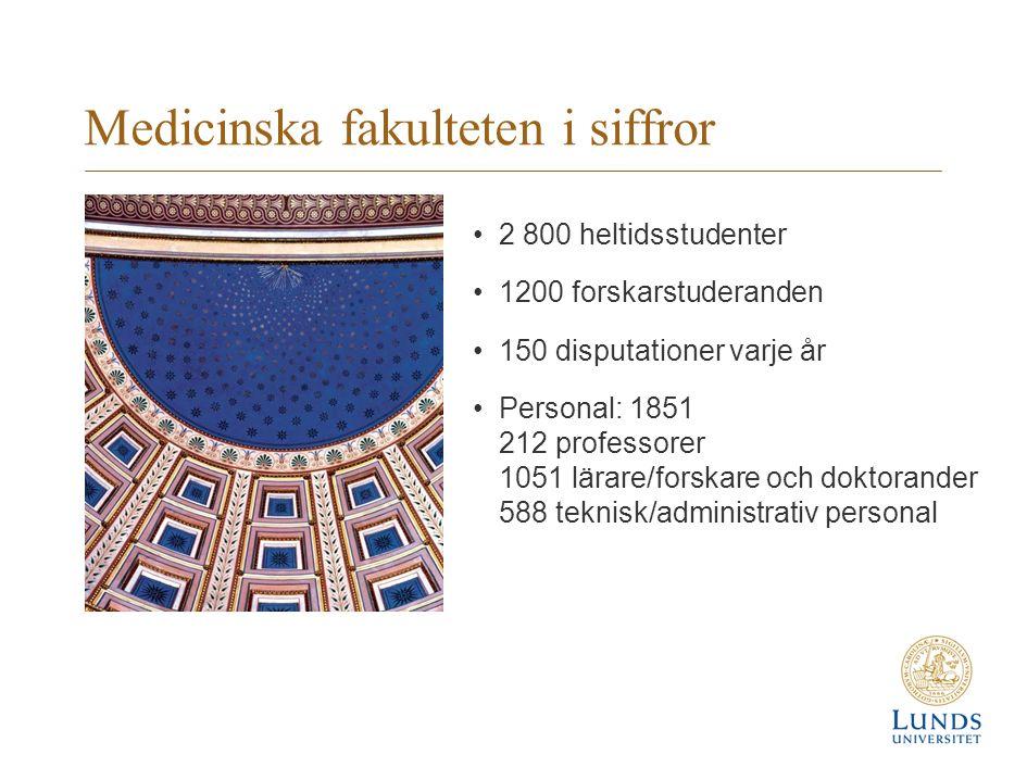 Forsknings- och utbildningscentra Forskning och utbildning inom Medicinska fakulteten finns i: Biomedicinskt centrum, BMC, i Lund Health Sciences Centre, HSC, i Lund Clinical Research Centre, CRC, i Malmö Medicon Village i Lund Samt vid Skånes universitetssjukhus.