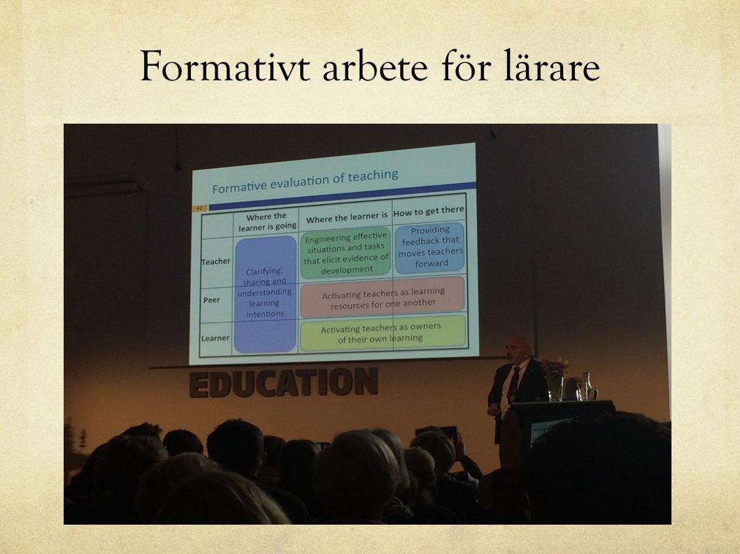 Formativt arbete för lärare