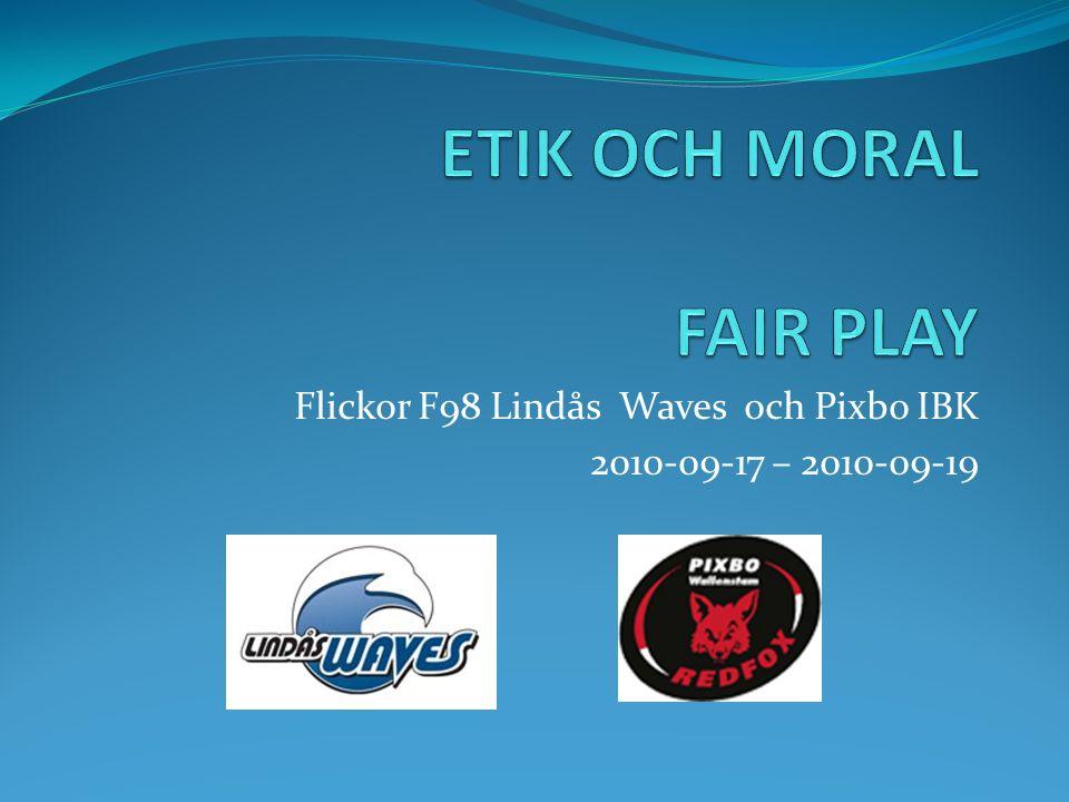 INLEDNING Kort beskrivning Lindås IBK och Pixbo IBK flickor födda 1998 genomförde under helgen 17-19 September ett läger där huvudsyftet var Etik och Moral.