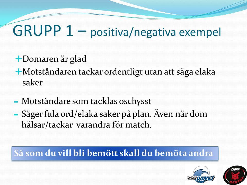 GRUPP 2 – Laget övergripande Så vill vi att det skall vara  Egna och även andra lag skall komma väl förbereda till match.