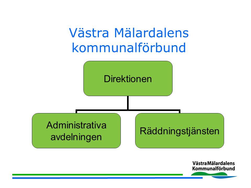 Västra Mälardalens kommunalförbund Direktionen Administrativa avdelningen Räddningstjänsten