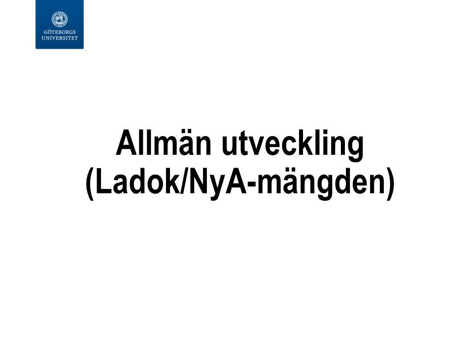 Allmän utveckling (Ladok/NyA-mängden)