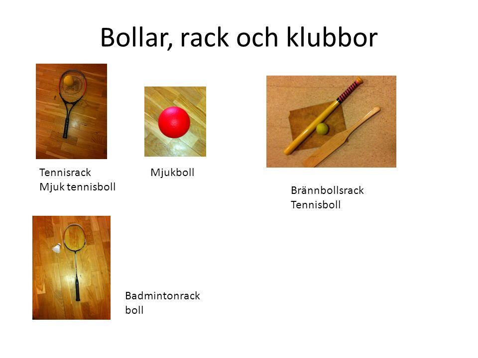 Bollar, rack och klubbor Brännbollsrack Tennisboll Tennisrack Mjuk tennisboll Mjukboll Badmintonrack boll