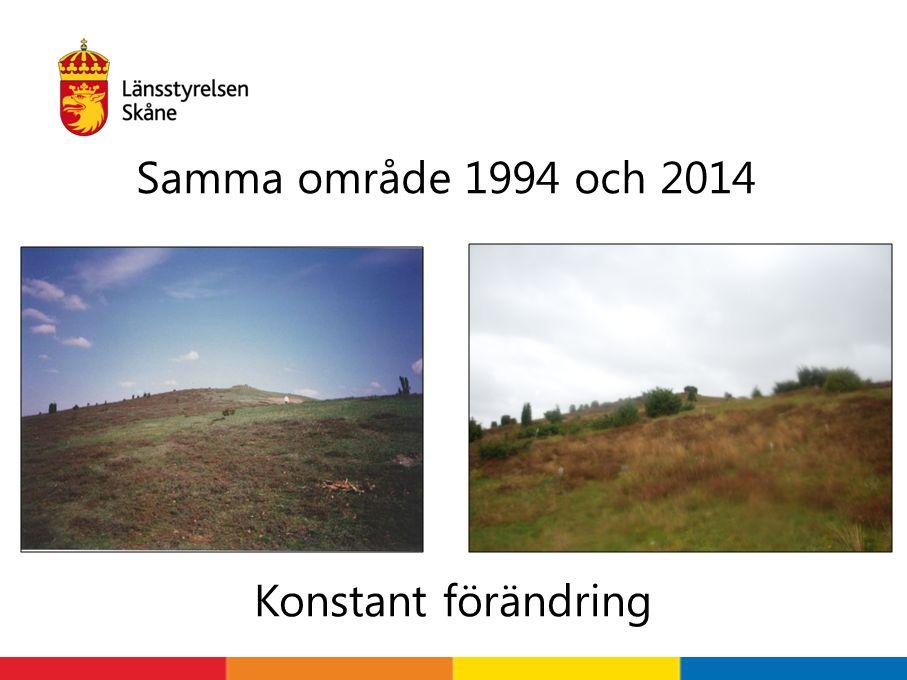 Samma område 1994 och 2014 Konstant förändring