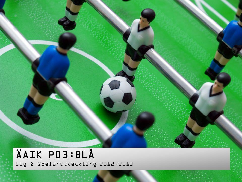 ÄAIK P03:BLÅ Lag & Spelarutveckling 2012-2013