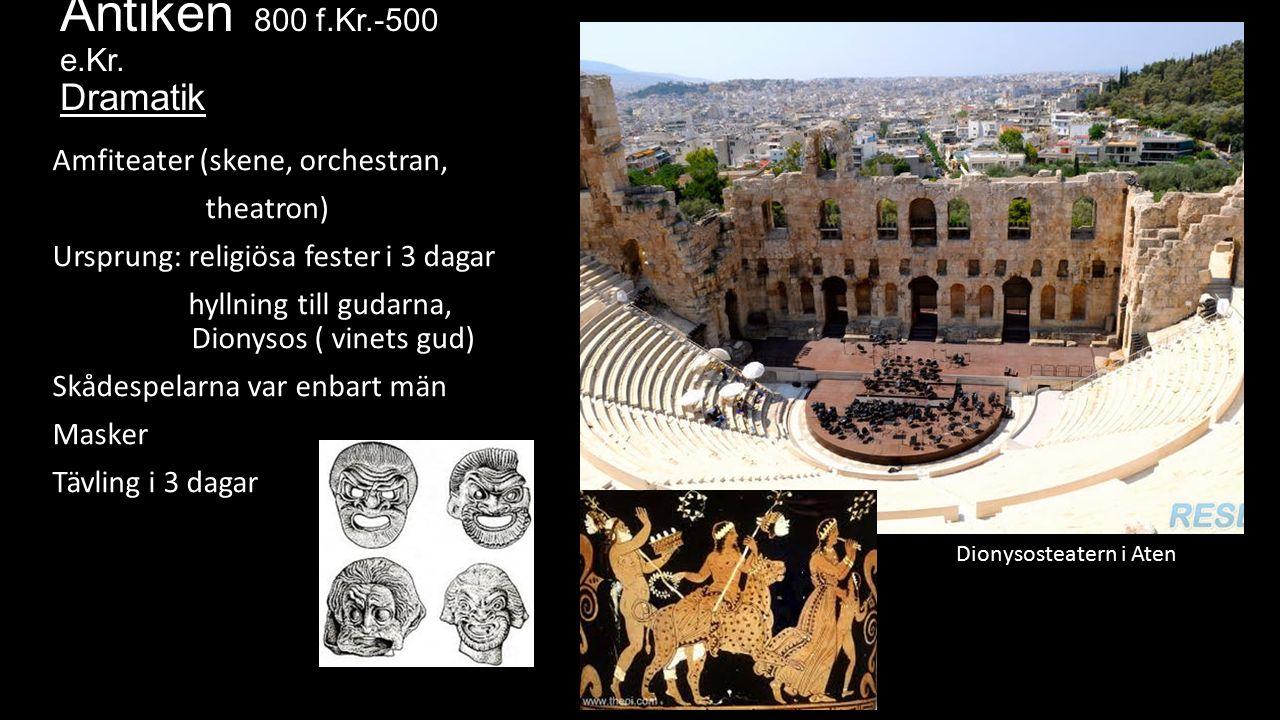 Antiken 800 f.Kr.-500 e.Kr.