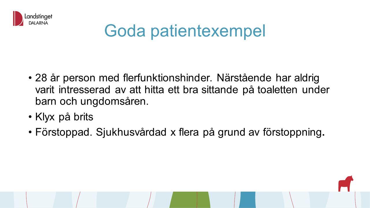 Goda patientexempel 28 år person med flerfunktionshinder.