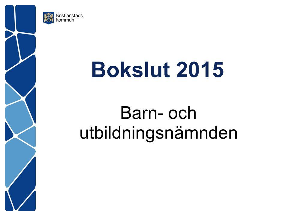 Bokslut 2015 Barn- och utbildningsnämnden