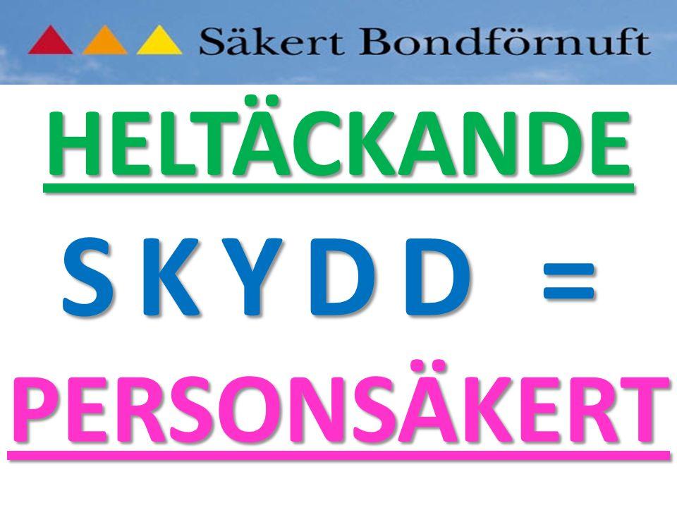 HELTÄCKANDE PERSONSÄKERT