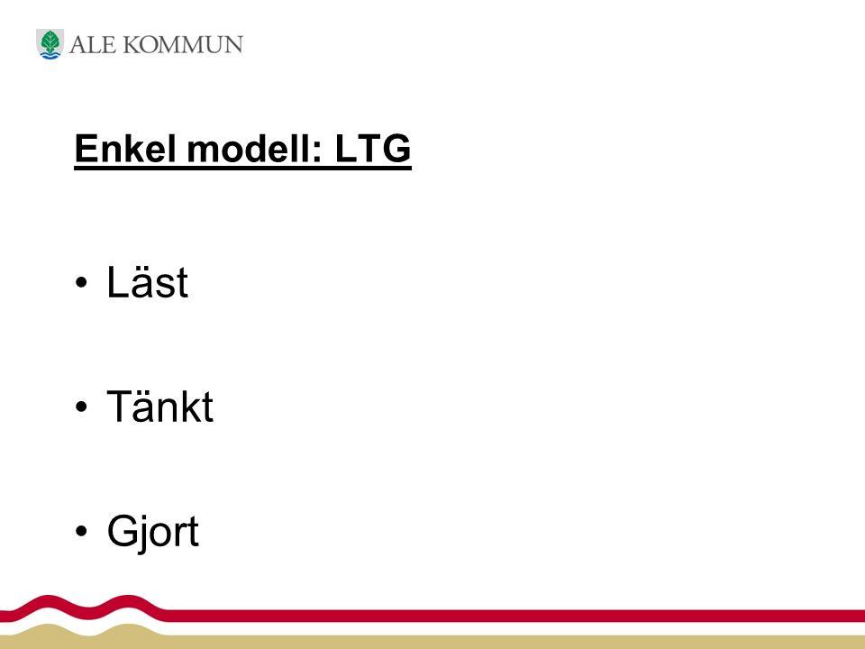 Enkel modell: LTG Läst Tänkt Gjort