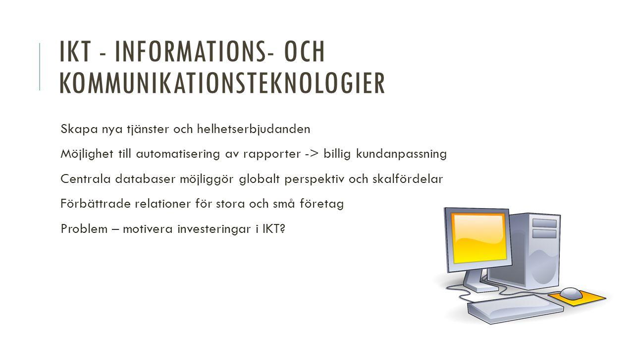 FRÅN PRODUKT TILL KOMPLEXT ERBJUDANDE 1.Identifiera och klassificera tjänster som erbjuds.