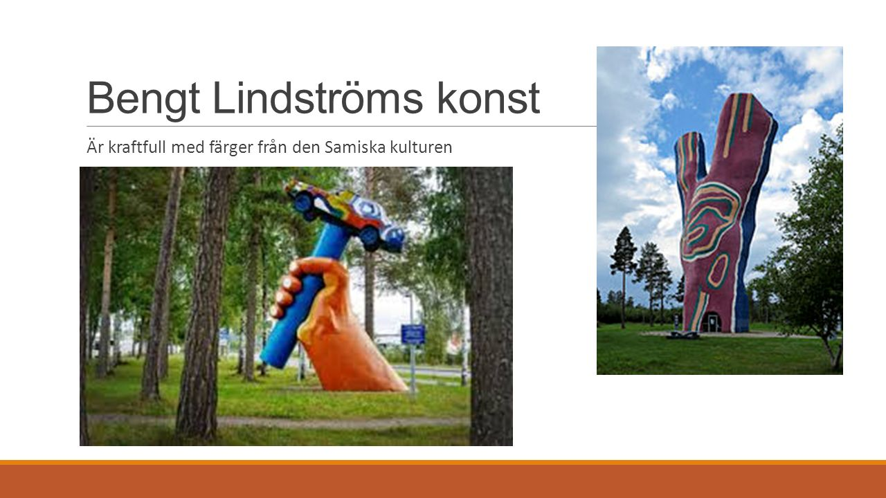Bengt Lindströms konst Är kraftfull med färger från den Samiska kulturen