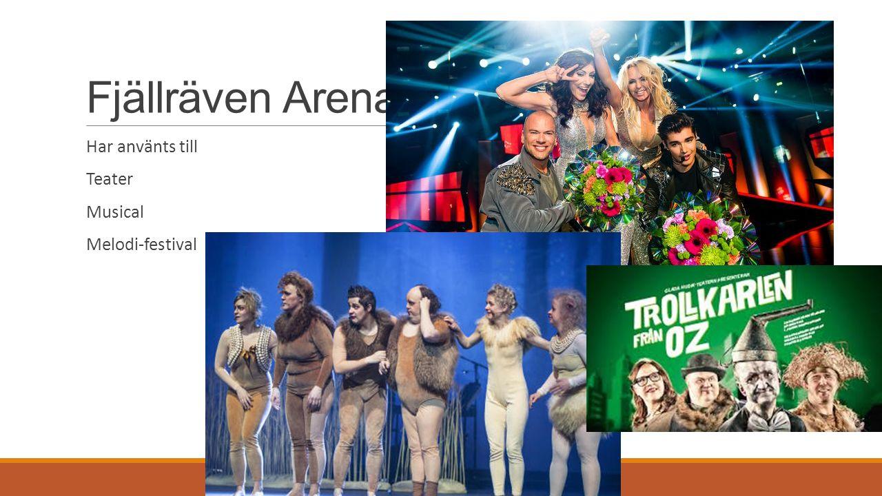 Fjällräven Arena Har använts till Teater Musical Melodi-festival