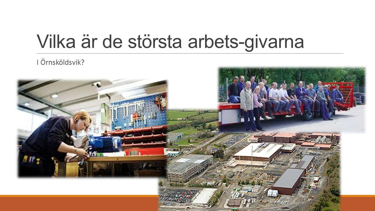 Vilka är de största arbets-givarna I Örnsköldsvik?