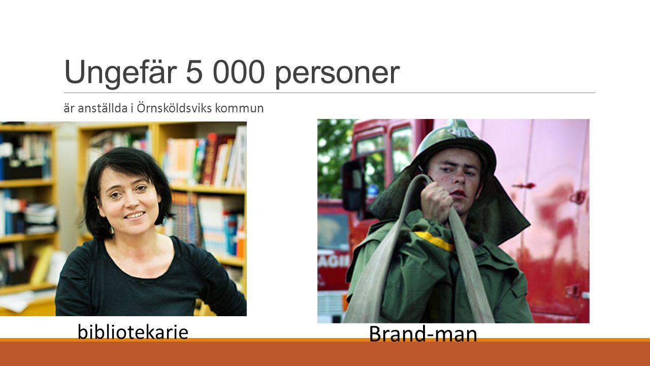 Ungefär 5 000 personer är anställda i Örnsköldsviks kommun bibliotekarie Brand-man