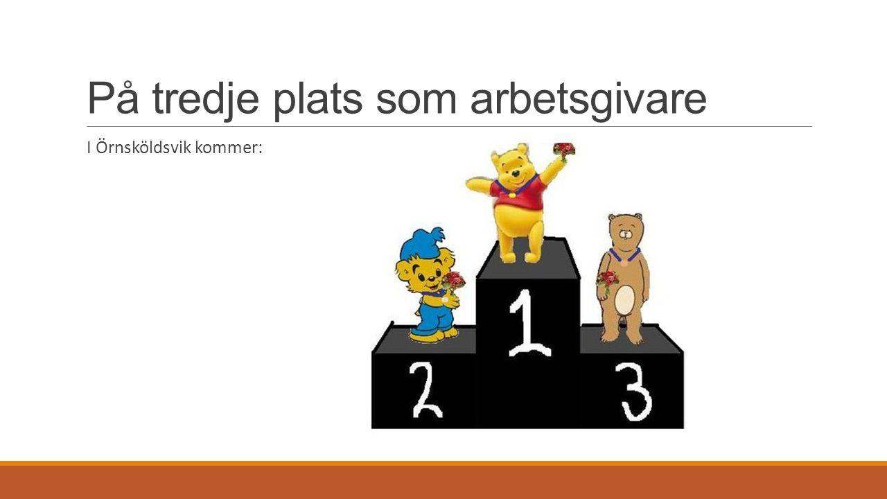 På tredje plats som arbetsgivare I Örnsköldsvik kommer: