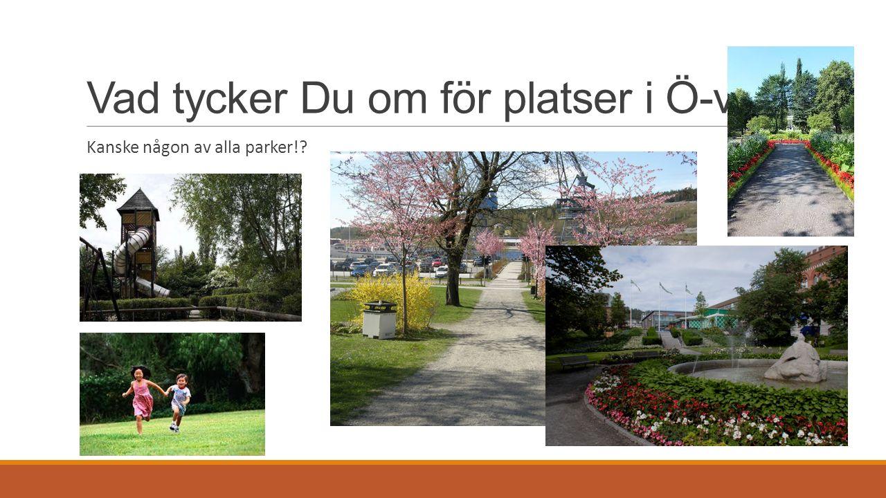 Vad tycker Du om för platser i Ö-vik Kanske någon av alla parker!