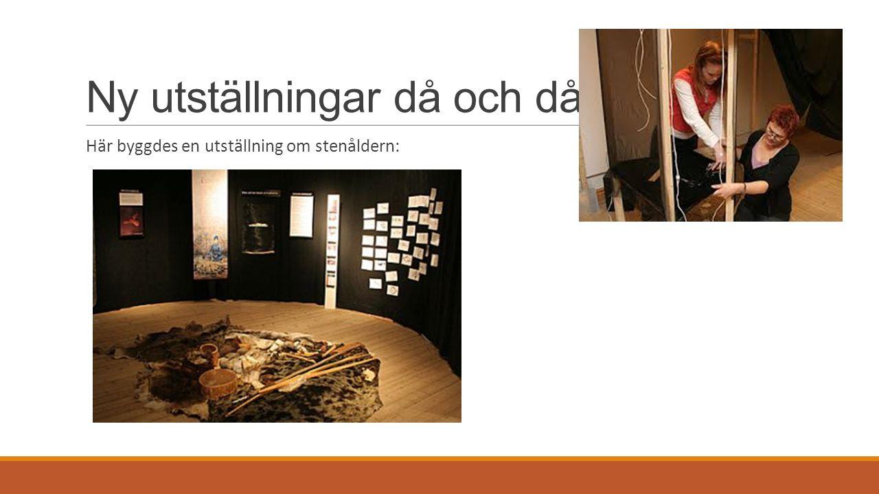 Ny utställningar då och då. Här byggdes en utställning om stenåldern: