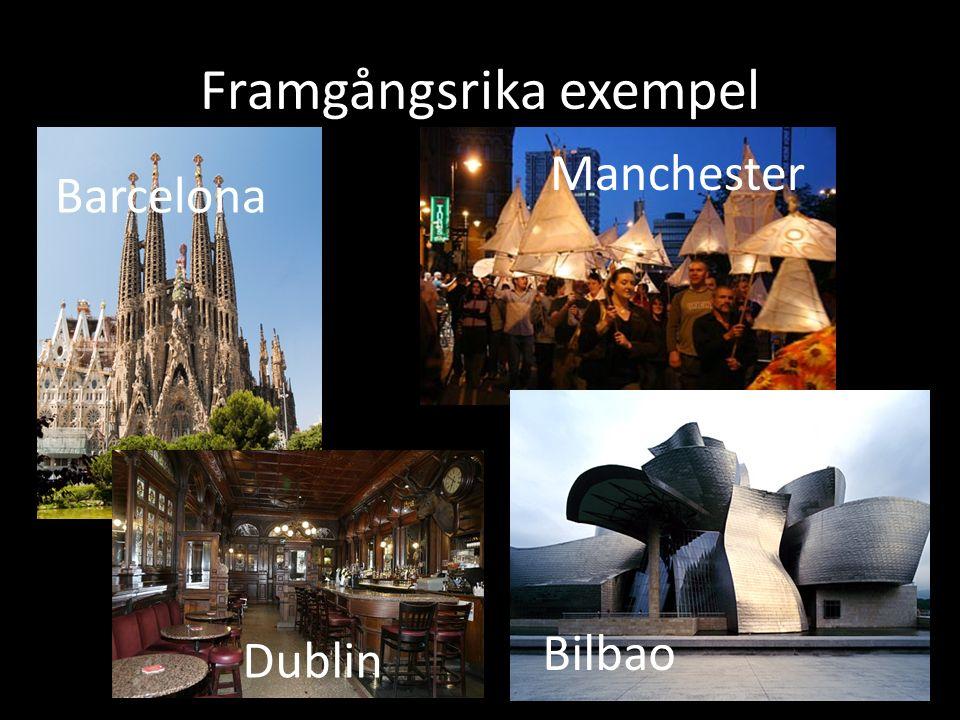 Framgångsrika exempel Manchester Barcelona Bilbao Dublin