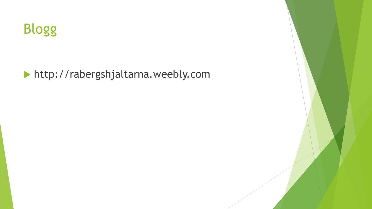 Blogg  http://rabergshjaltarna.weebly.com