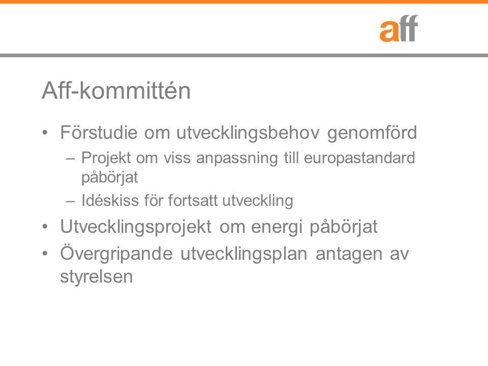 ABFF-utskottet Förändringsagenda: –Kompletteringar i ABFF/SF och Aff Definitioner bl.a.