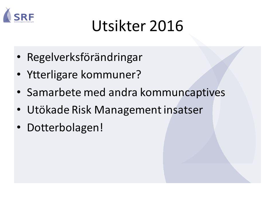 Utsikter 2016 Regelverksförändringar Ytterligare kommuner.