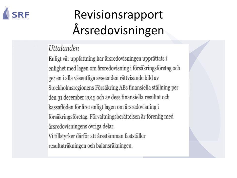 Revisionsrapport Årsredovisningen