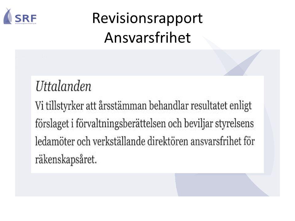 Revisionsrapport Ansvarsfrihet