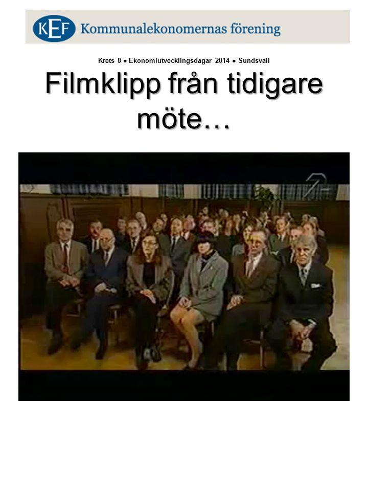 Filmklipp från tidigare möte… Krets 8 ● Ekonomiutvecklingsdagar 2014 ● Sundsvall Filmklipp från tidigare möte…