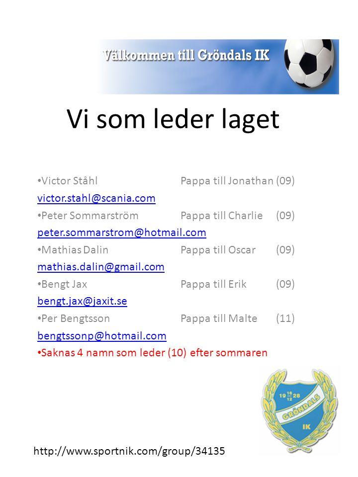 Vi som leder laget Victor StåhlPappa till Jonathan (09) victor.stahl@scania.com Peter Sommarström Pappa till Charlie (09) peter.sommarstrom@hotmail.co