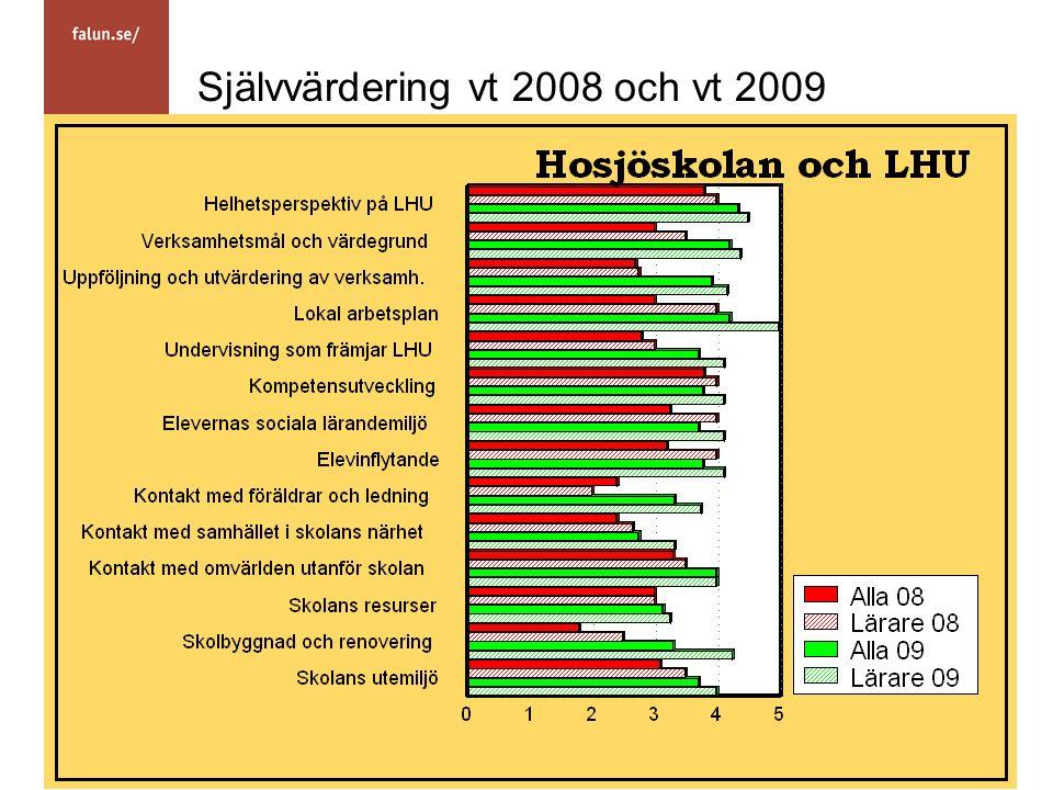 Självvärdering vt 2008 och vt 2009