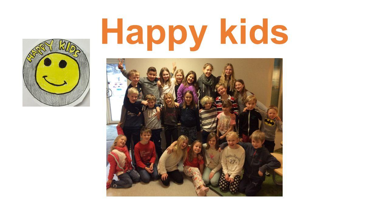 Syftet med Happy kids Vara ett stöd för andra elever på raster/fritids som har svårt att i första hand vända sig till en vuxen.