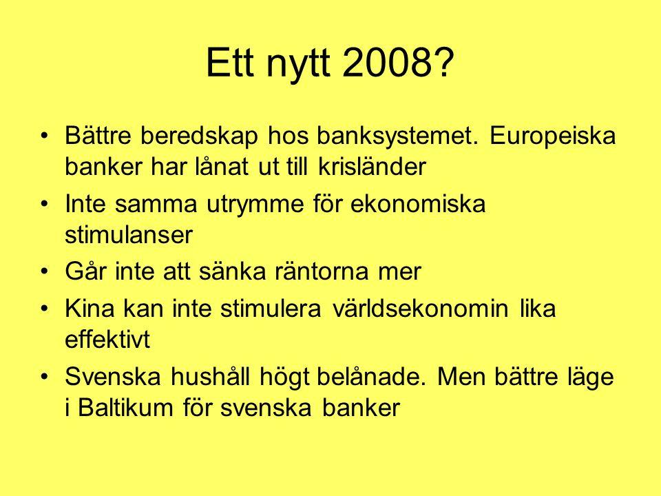 Ett nytt 2008. Bättre beredskap hos banksystemet.