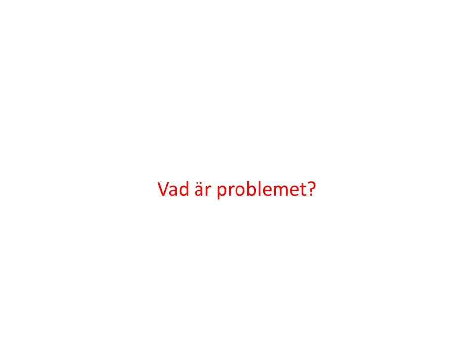 Vad är problemet?