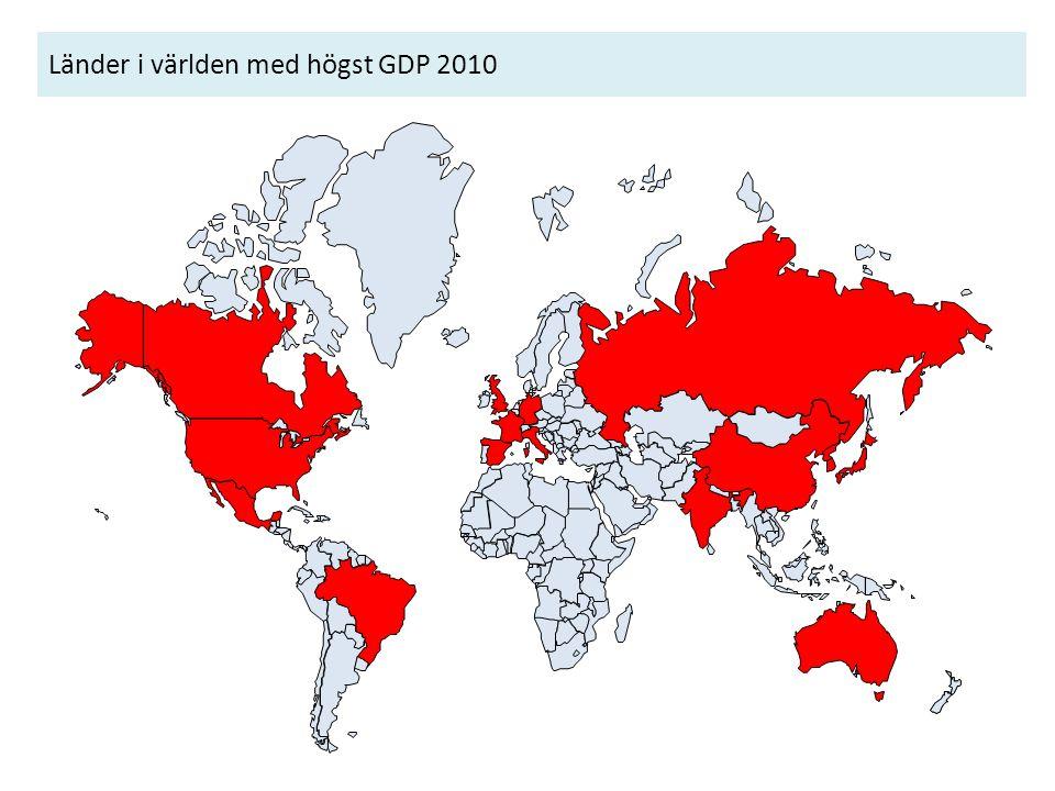 Länder i världen med högst GDP 2010