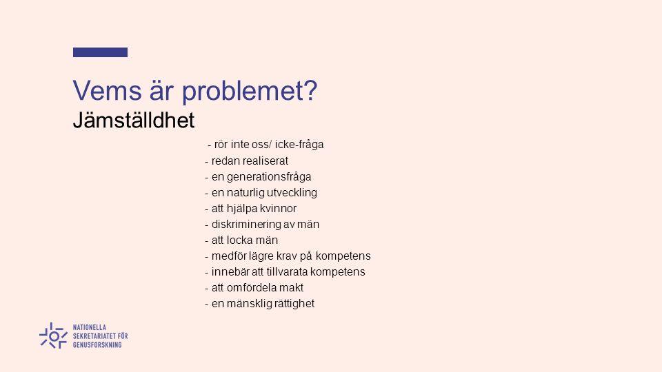 Vems är problemet.
