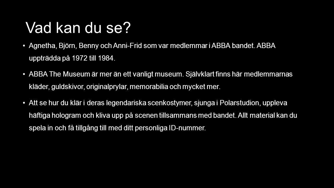 Vad kan du se. Agnetha, Björn, Benny och Anni-Frid som var medlemmar i ABBA bandet.