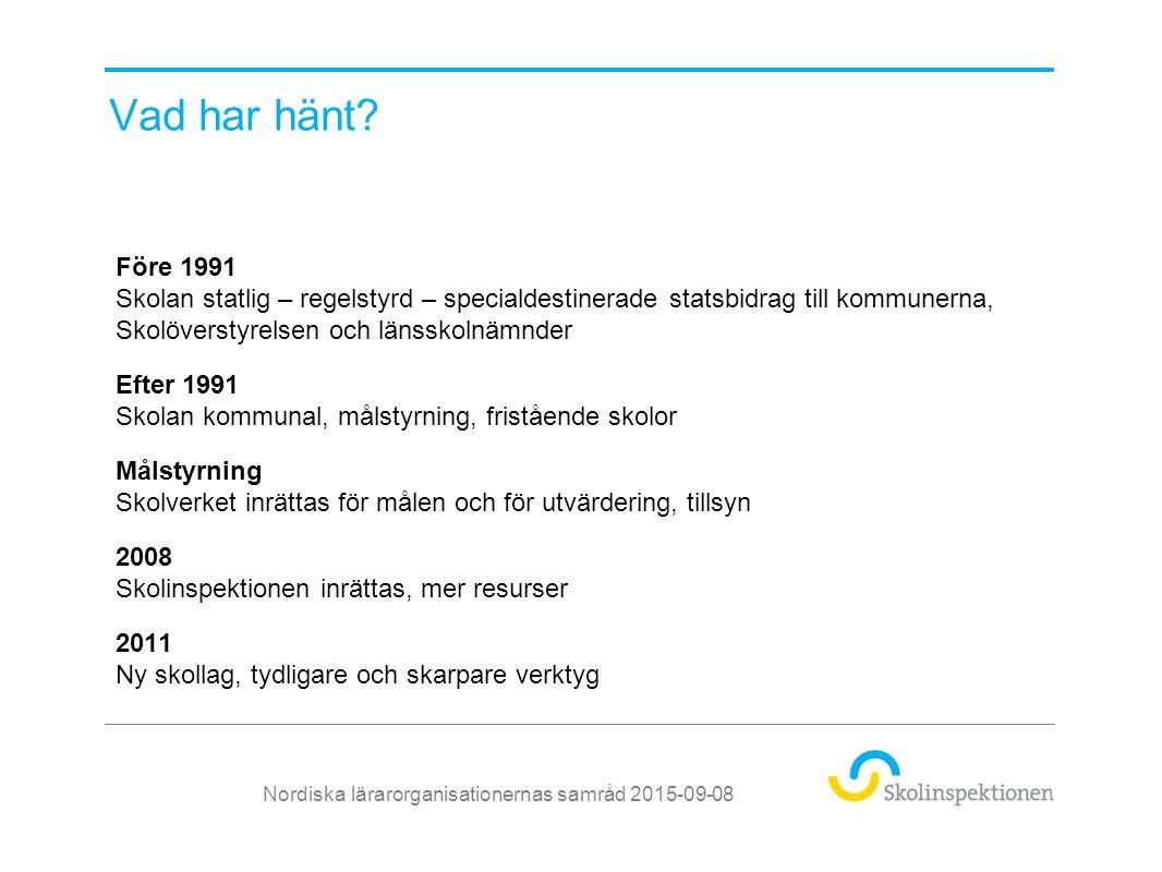 Organisation Nordiska lärarorganisationernas samråd 2015-09-08