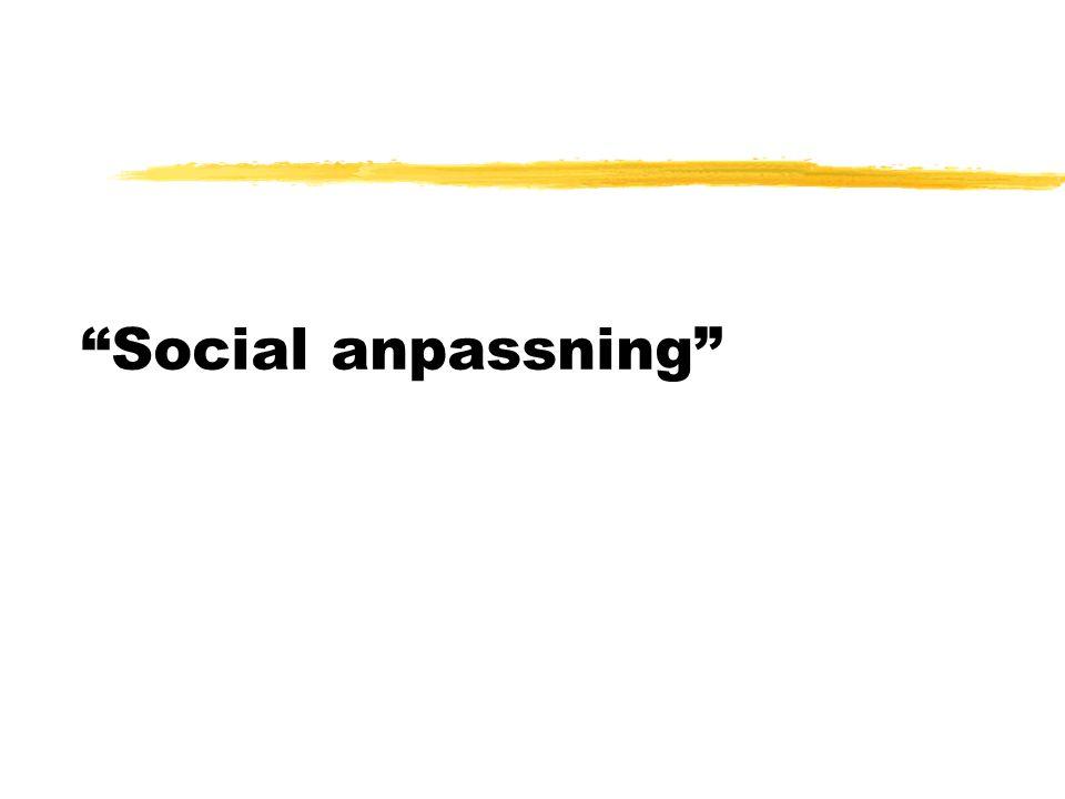 """Social anpassning"""