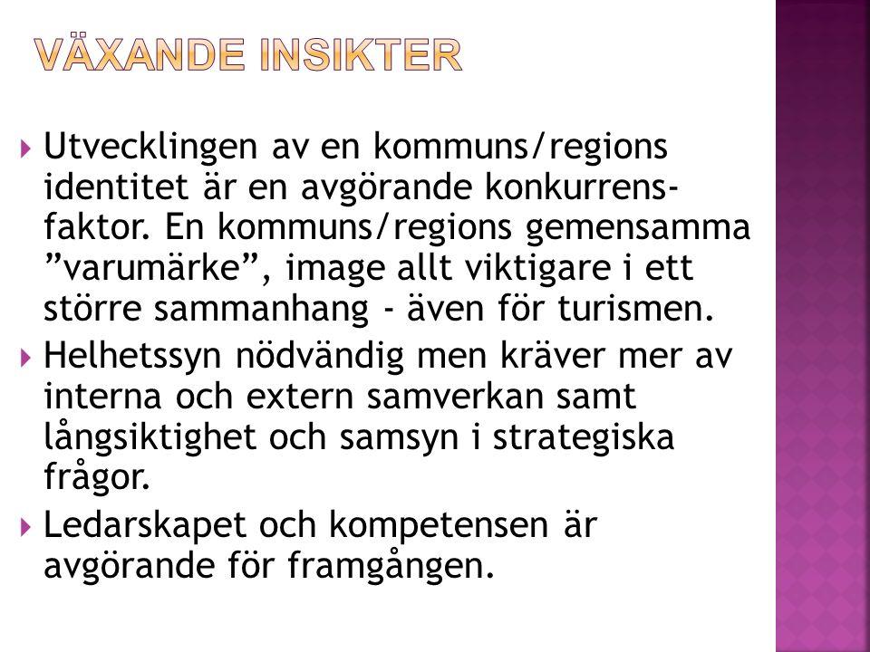  Utvecklingen av en kommuns/regions identitet är en avgörande konkurrens- faktor.