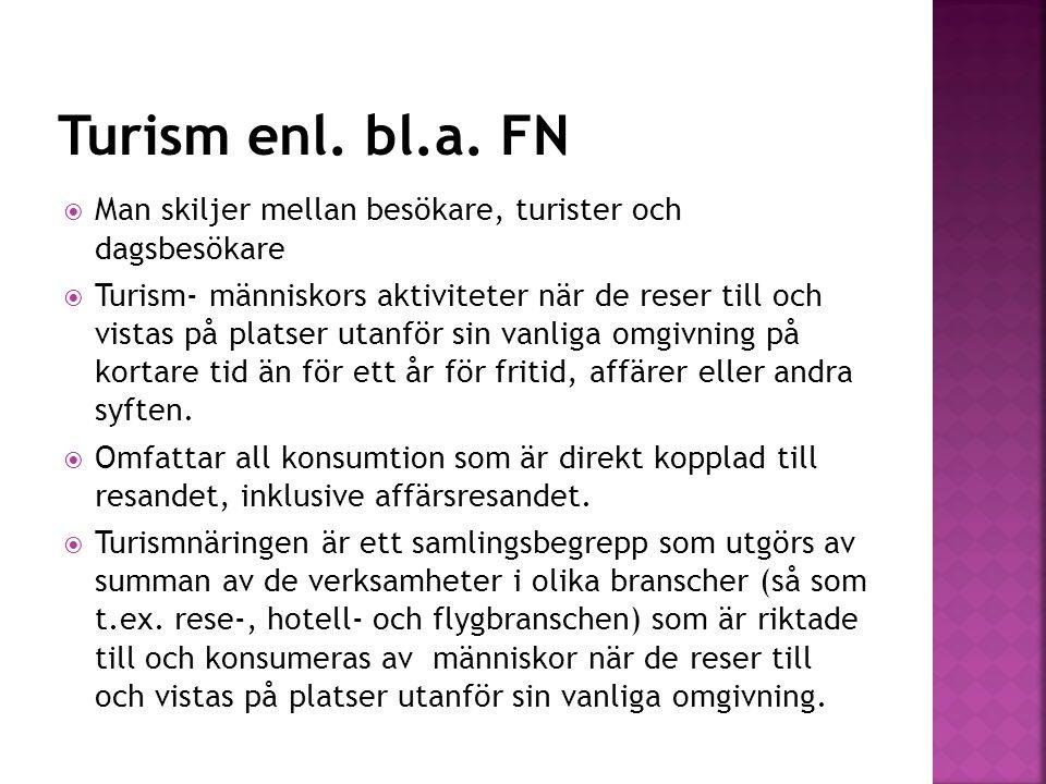  Sverige skall ha en hög attraktionskraft som turistland och en långsiktigt konkurrens- kraftig turistnäring som bidrar till en hållbar tillväxt och ökad sysselsättning i alla delar av landet