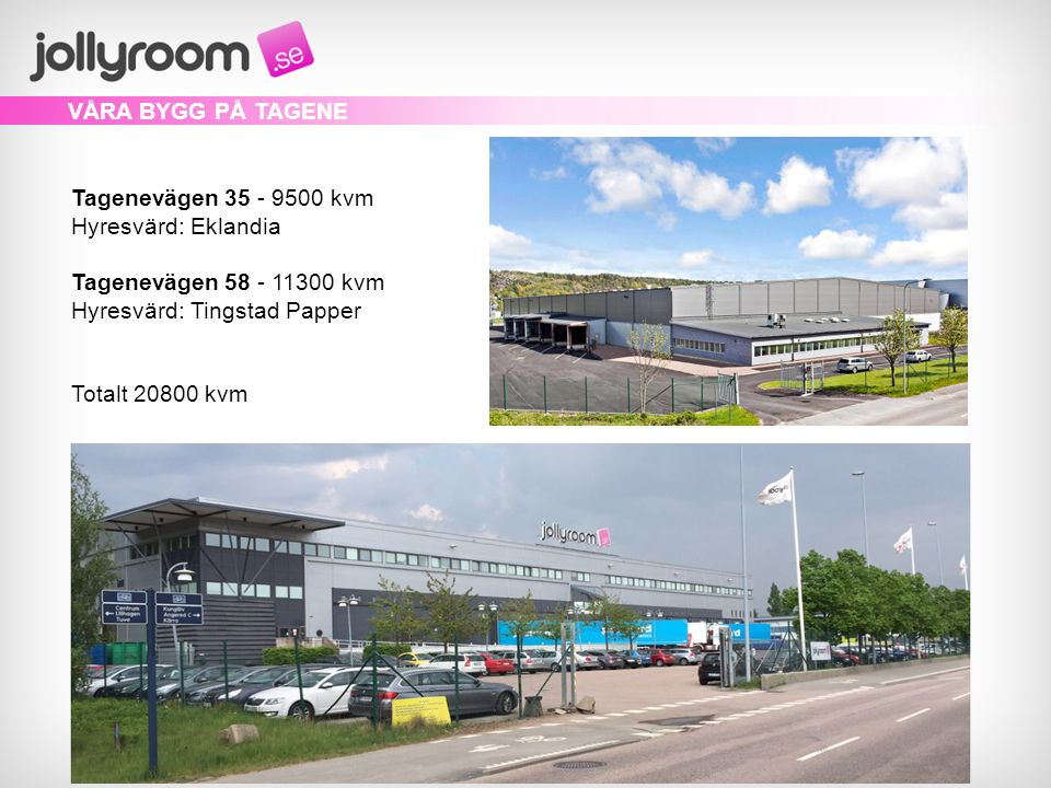 Från två bygg på Tagene hanterar vi den nordiska marknaden.