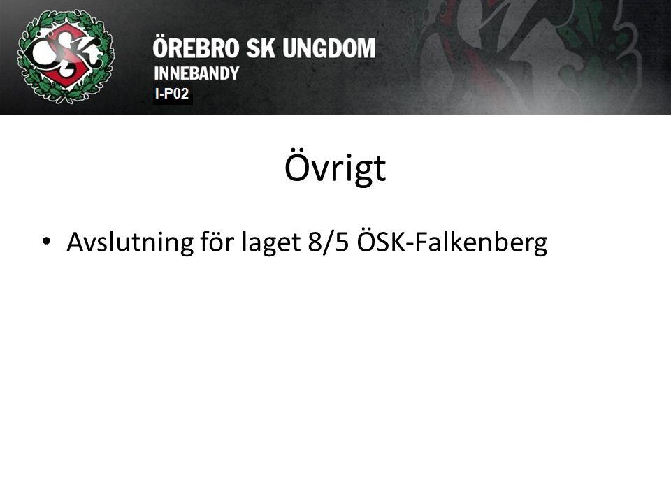 Övrigt Avslutning för laget 8/5 ÖSK-Falkenberg