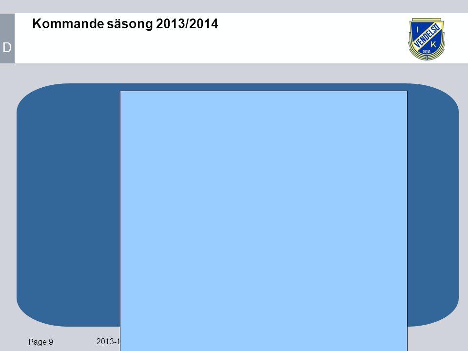 Page 9 2013-11-12 Ledare VIK P04 Blå Kommande säsong 2013/2014 D